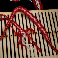 Hřebenový pásek ::::: Weaving on heddle loom