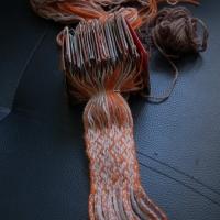 Karetkový pás - první pokusy / Tablet weaving