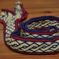 Karetkový pás dle nálezu z Birky ::::: Tablet weaving - pattern found in Birka
