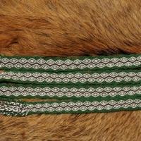 Karetkový pás - rozkvetlý strom / Tablet woven band - tree in bloom