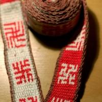 Karetkový pás - slovanské symboly / Tablet woven band