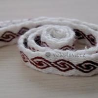 Karetkový pás - vlny / Tablet woven band