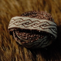 Karetkový pás - zamotanec / Tablet woven band